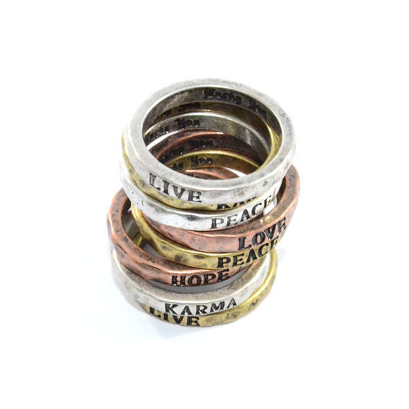 VINTAGE IRREGULAR SURFACE MAKE A WISH RING - product image