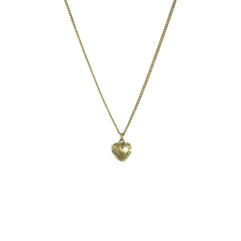 VINTAGE HEART CHARACTER PENDANT NECKLACE - product image