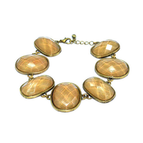VINTAGE,GOLD,WITH,OVAL,LIGHT,BROWN,CRYSTAL,BRACELET,vendor-unknown,Cart2Cart