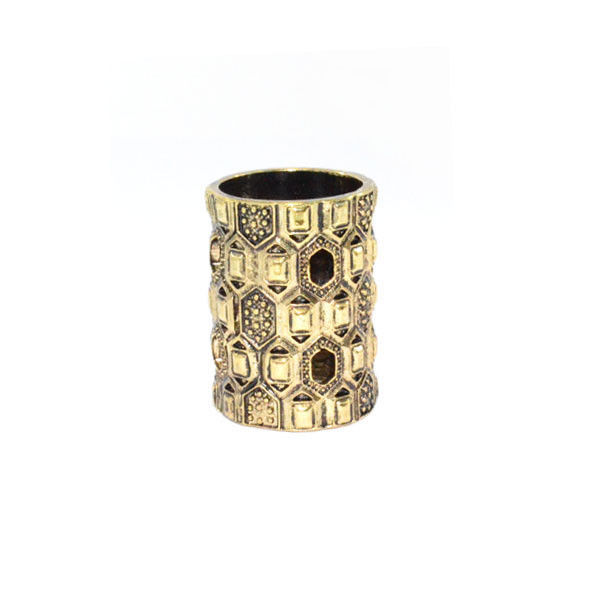 VINTAGE GOLD HOLLOW PATTERN LONG RING - product image