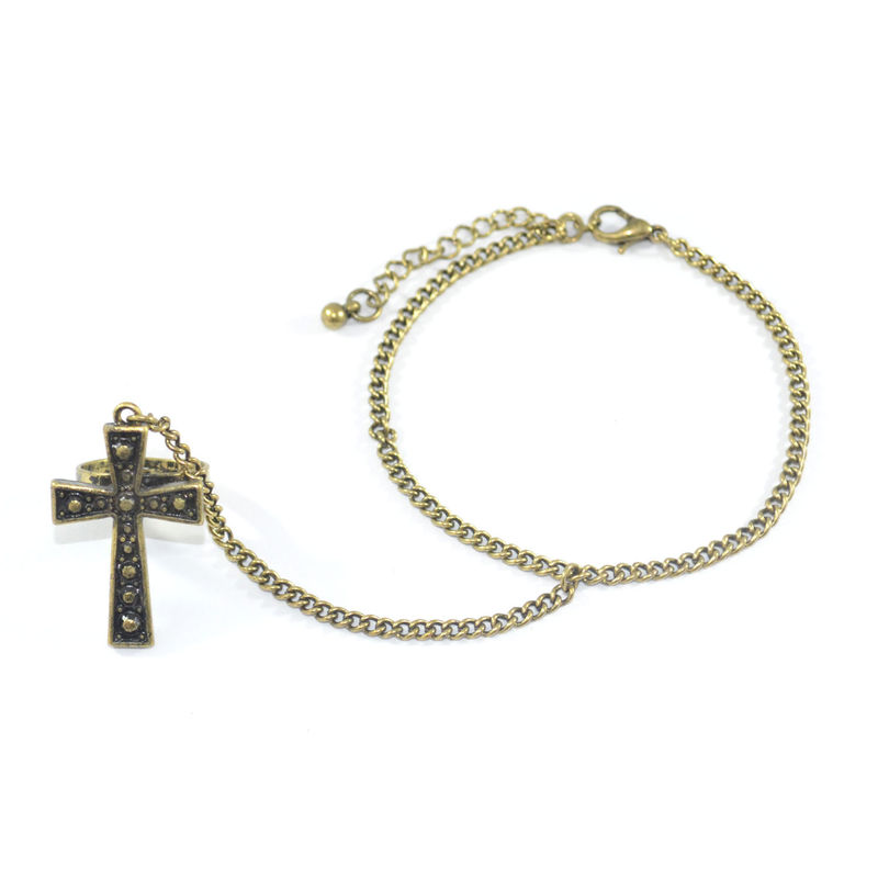 VINTAGE CROSS RING BRACELET - product image