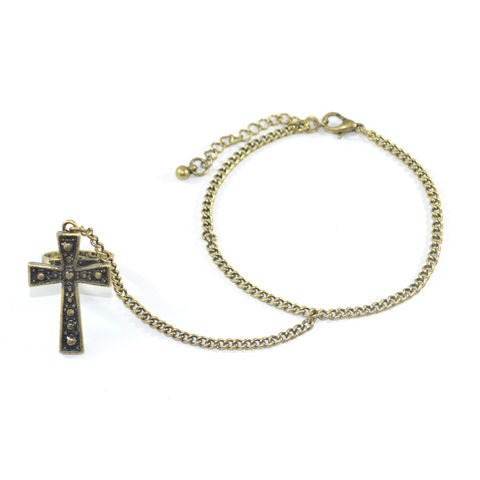 VINTAGE,CROSS,RING,BRACELET