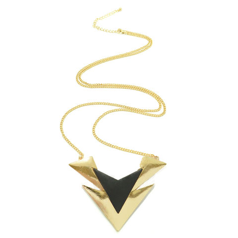 V,SHAPED,TRIANGULAR,NECKLACE