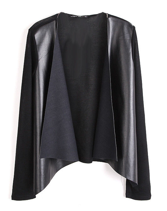 LEATHER FRONT CARDIGAN - product image