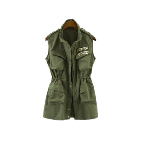 U.S.,ARMY,SLEEVELESS,JACKET
