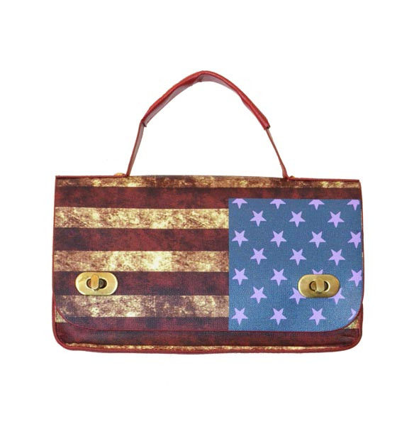 U.S FLAG BOX BAG - product image