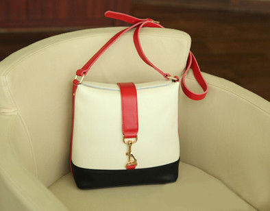 TWO TONE WITH LEATHER SHOULDER BAG - product image