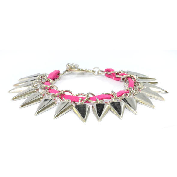 TWO TONE SPIKE BRACELET - product image