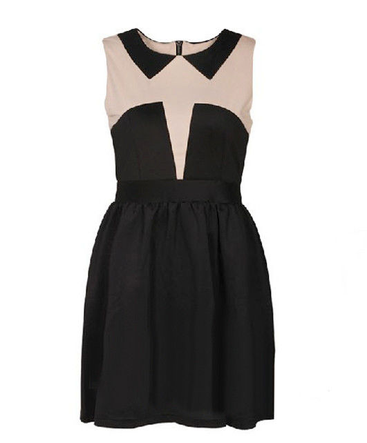 TWO TONE SHAPE DRESS - product image