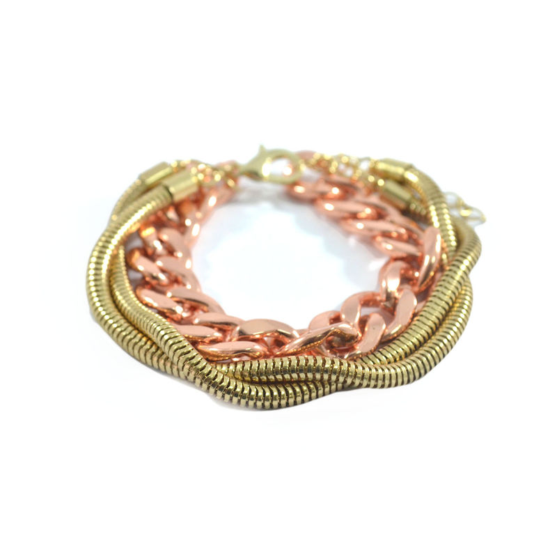 TWO TONE CHAIN BRACELET - product image