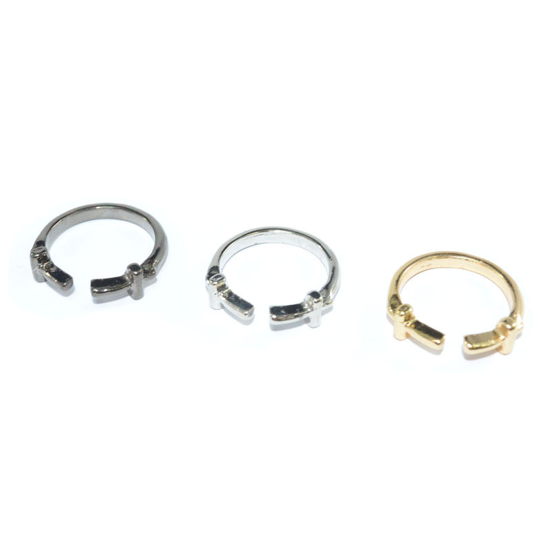 TWISTED DOUBLE CROSS RING - product image