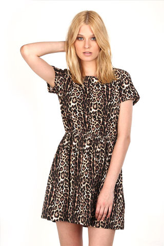 TRIBAL,LEOPARD,JERSEY,DRESS