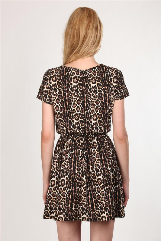 TRIBAL LEOPARD JERSEY DRESS - product image