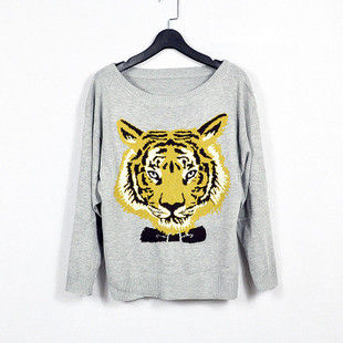 TIGER,PRINT,JUMPER,Sweaters