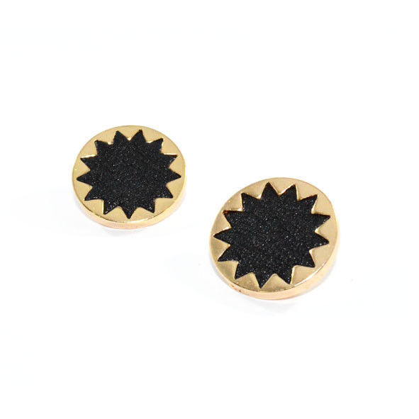 SUNFLOWER CRYSTAL EARRING - product image