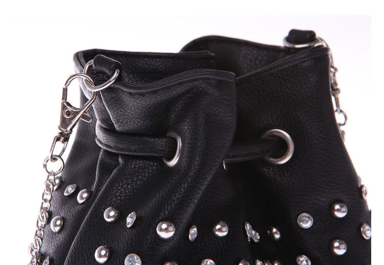 STUD DECOR BUCKET BAG - product image