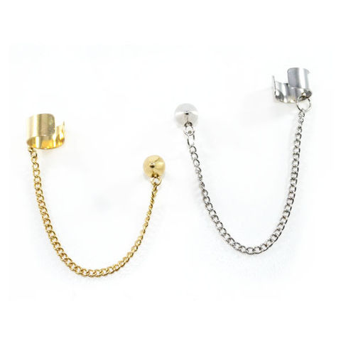SPIKE,STUD,WITH,CHAIN,AND,EAR,CUFF