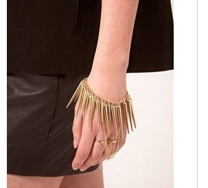 SPIKE AND RING BRACELET - product image