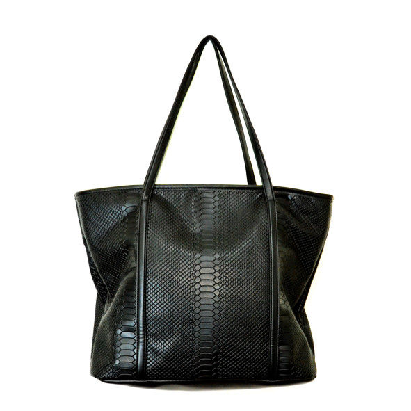 SNAKE SKIN SHOPPER BAG - product image