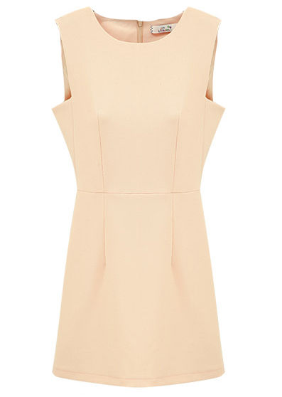 SLIM SHIFT DRESS NUDE - product image