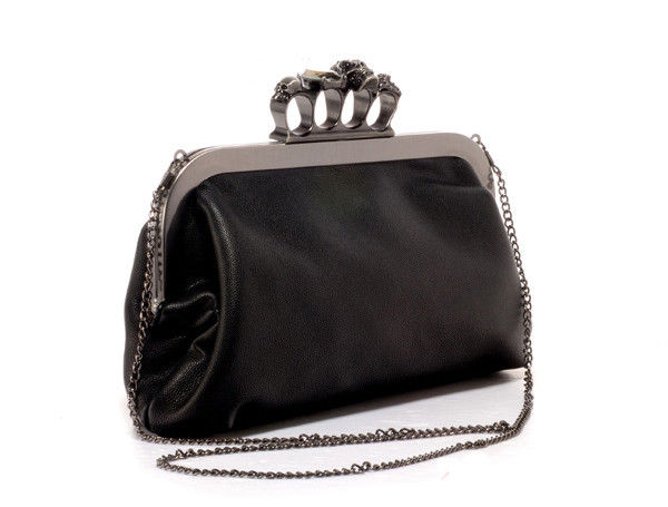 SKULL WITH CRYSTAL CLUTCH BAG - product image