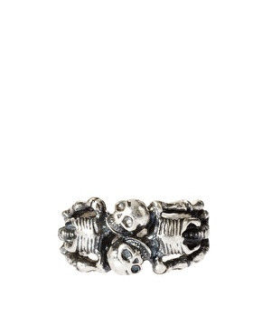 SKULL BANDED RING - product image