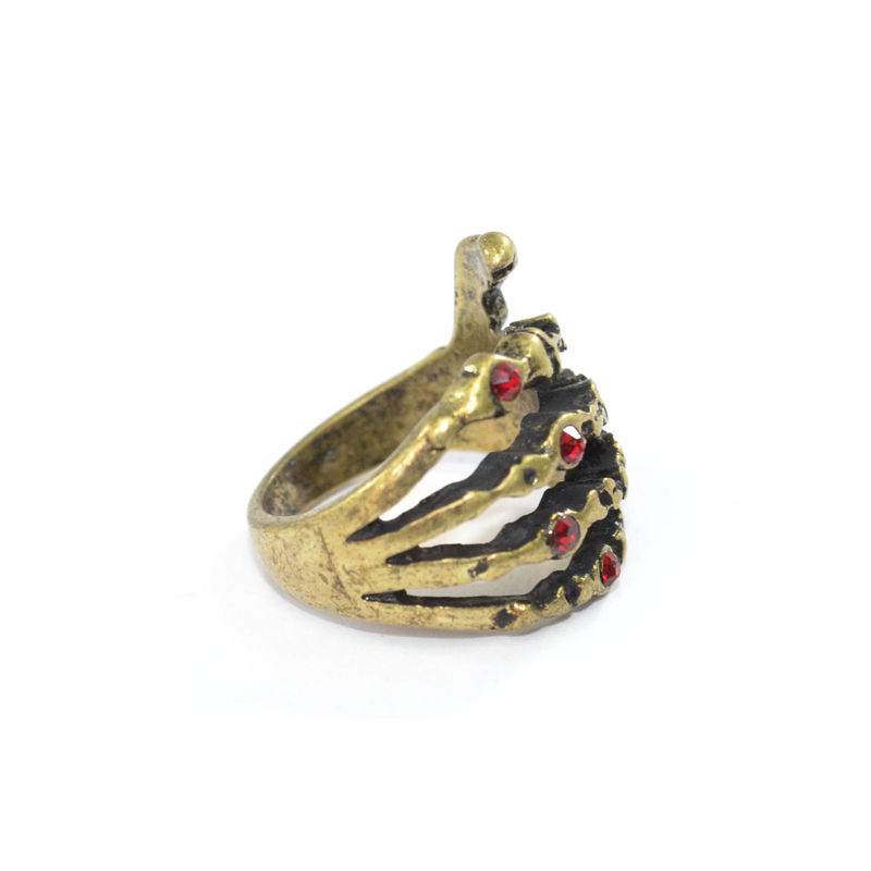 SKELETON HAND WITH CRYSTAL RING - product image
