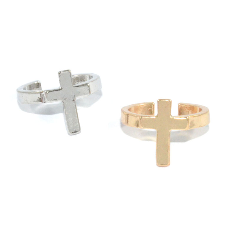 SINGLE CROSS RING - product image