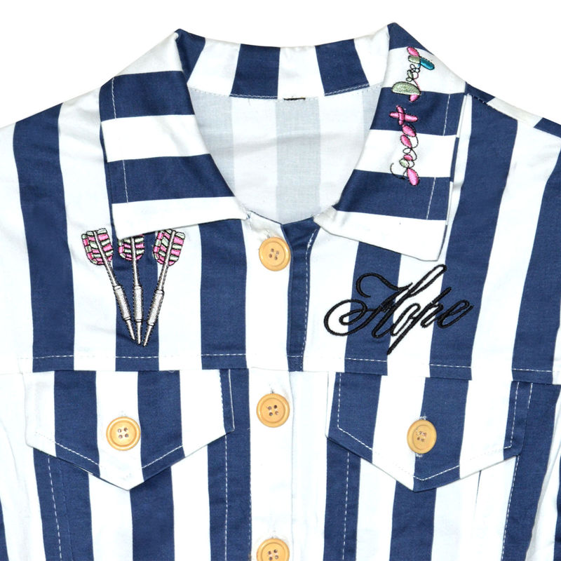 STRIPES PATTERN DARTS PRINTS SHIRT - product image