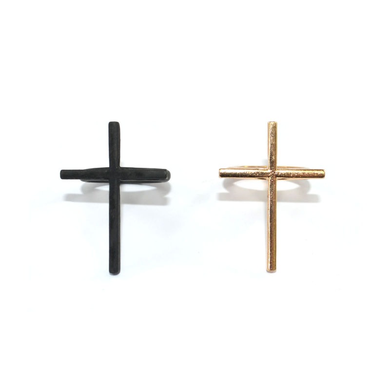 SINGLE LONG THIN CROSS RING - product image