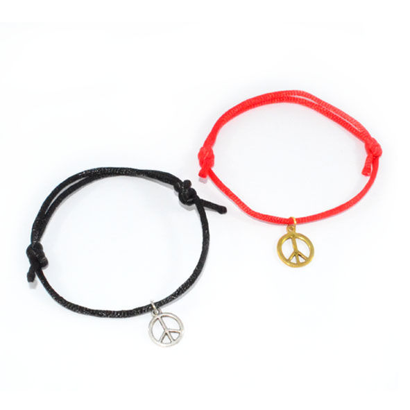 PEACE CHARM STRING BRACELET - product image