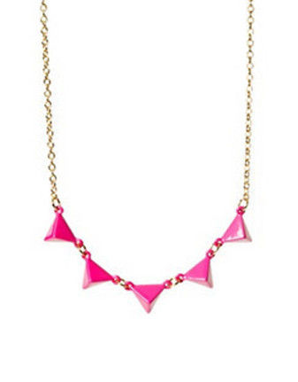 MULTI,TRIANGLE,PYRAMID,NECKLACE