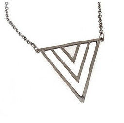 TRIPLE TRIANGLE PENDANT NECKLACE - product image