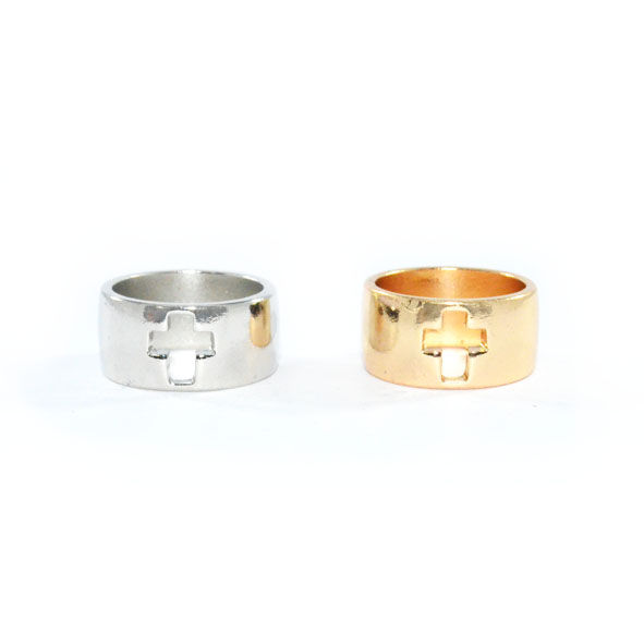HOLLOW SINGLE CROSS RING - product image