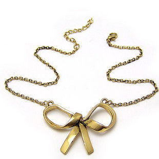 VINTAGE RIBBON BOW NECKLACE - product image