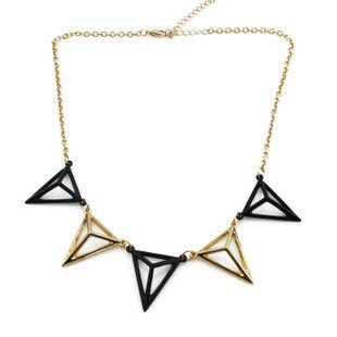 TRIANGLE,PYRAMID,CHARMS,NECKLACE