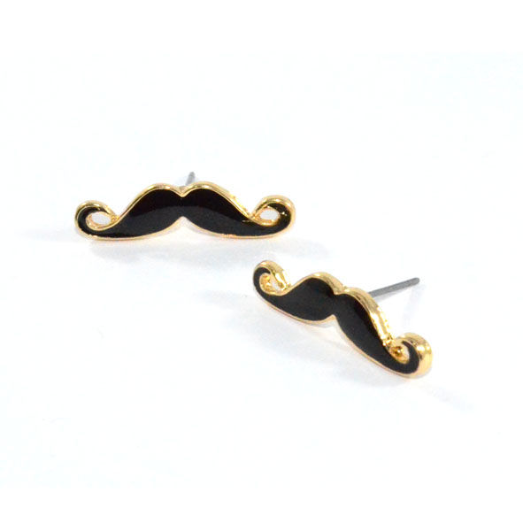 MINIMAL MOUSTACHE EARRINGS - product image