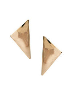 MINIMAL,TRIANGLE,EARRINGS,TRIANGLE EARRING, BLACK TRIANGLE EARRING, GOLD TRIANGLE EARRING