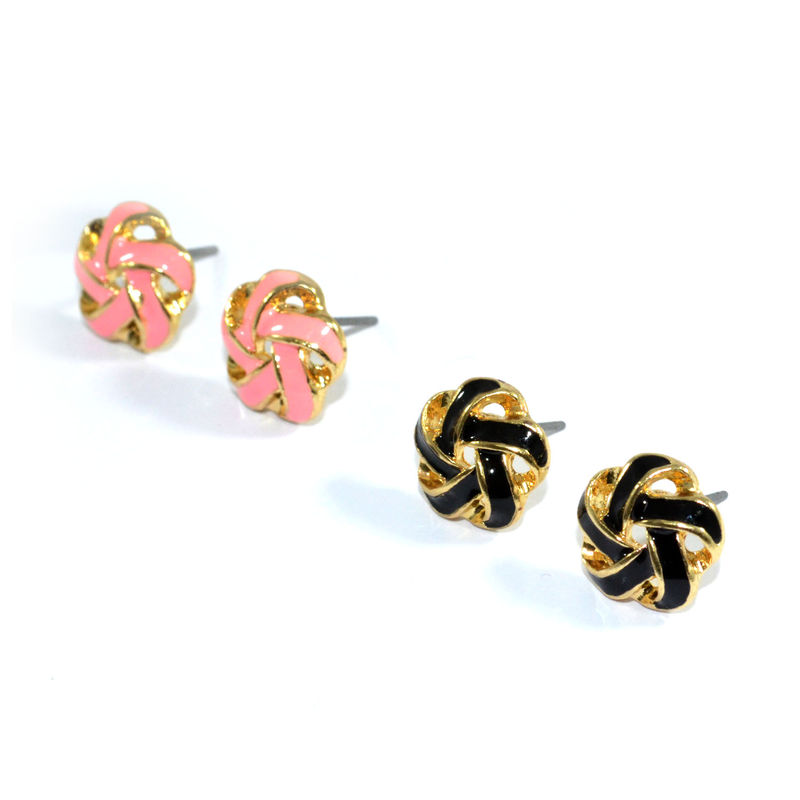 RIBBON FLOWER EARRINGS - product image