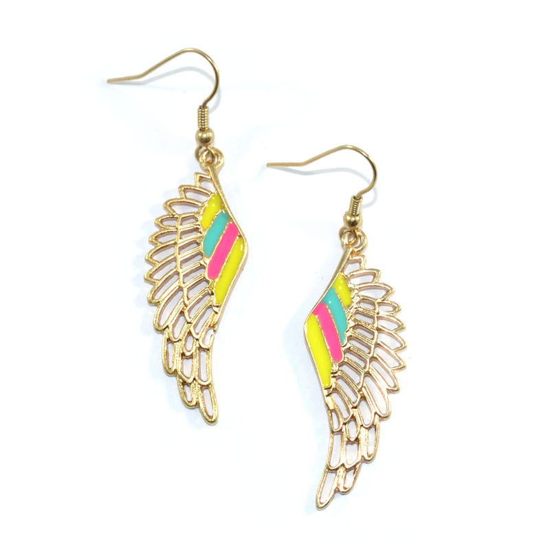 COLOURFUL ANGEL WING EARRINGS - product image