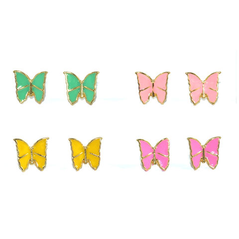 BUTTERFLY,EARRINGS,PINK BUTTERFLY EARRINGS, YELLOW BUTTERFLY EARRINGS, GREEN BUTTERFLY EARRINGS, PURPLE BUTTERFLY EARRINGS, MINI BUTTERFLY EARRINGS