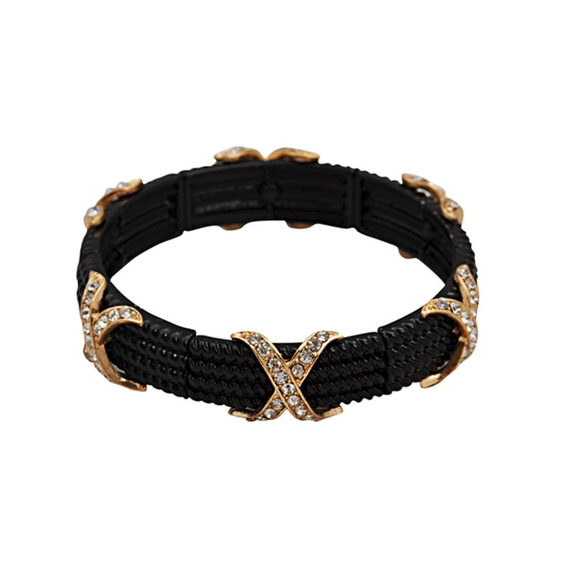 CRYSTAL CROSS DECOR ELASTIC BRACELET - product image