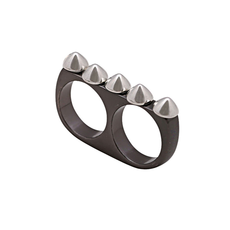 MULTI ROUND STUD DOUBLE RING - product image