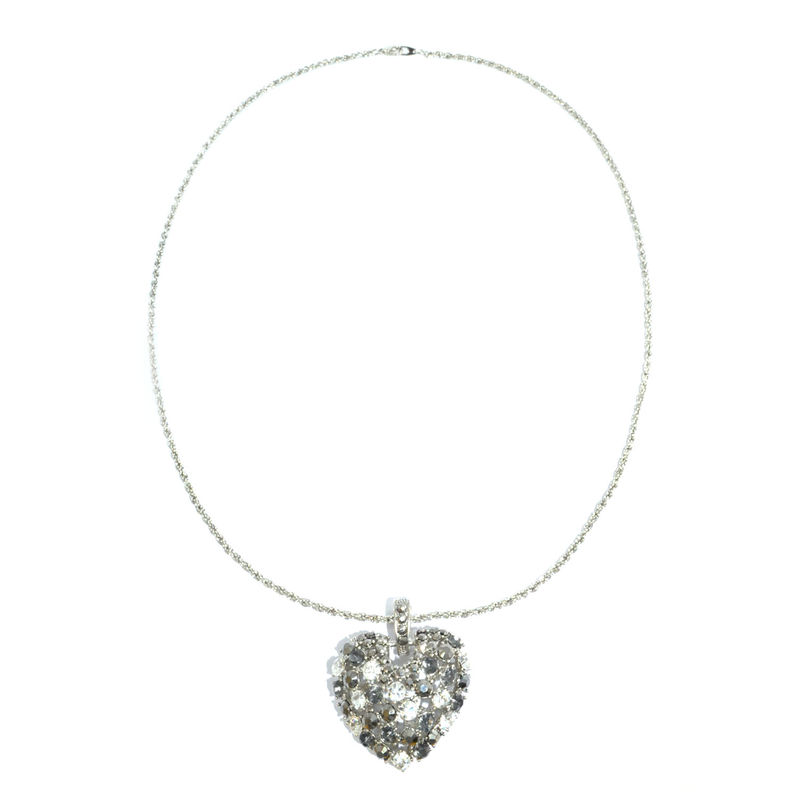 CRYSTAL HOLLOW HEART NECKLACE - product image