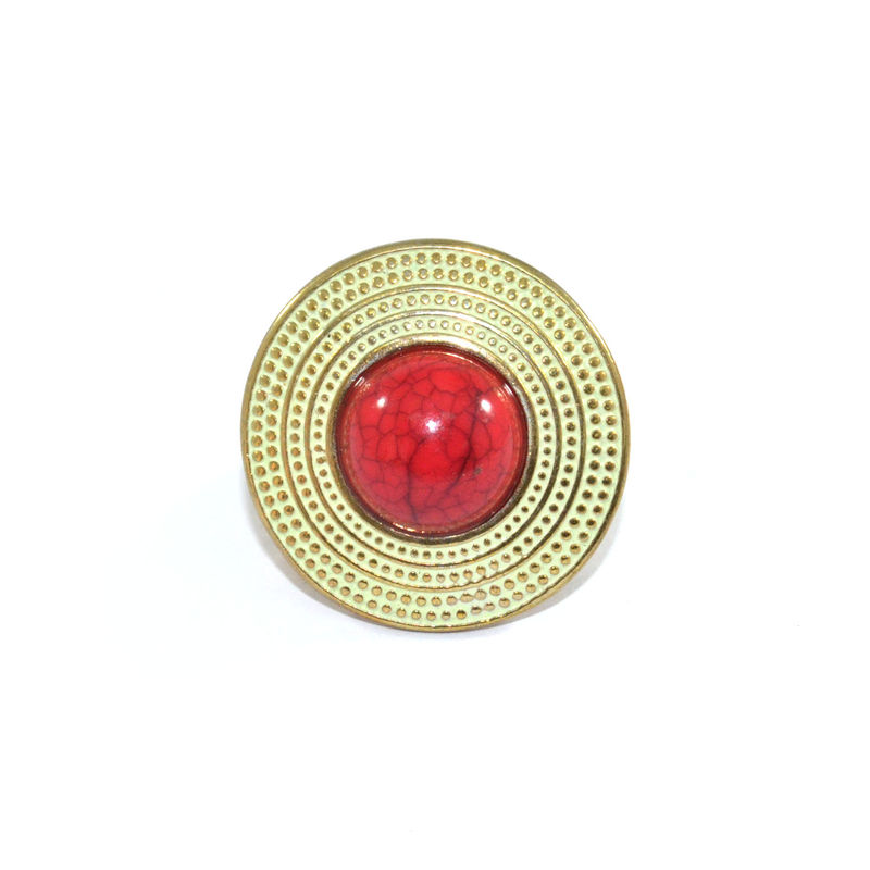 DOTTED SHIELD WITH STONE RING - product image