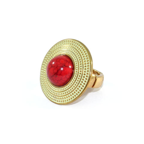 DOTTED,SHIELD,WITH,STONE,RING,SHIELD RING, STONE RING , RED STONE RING, DOTTED SHIELD RING, SHIELD WITH STONE RING, STONE ELASTIC RING