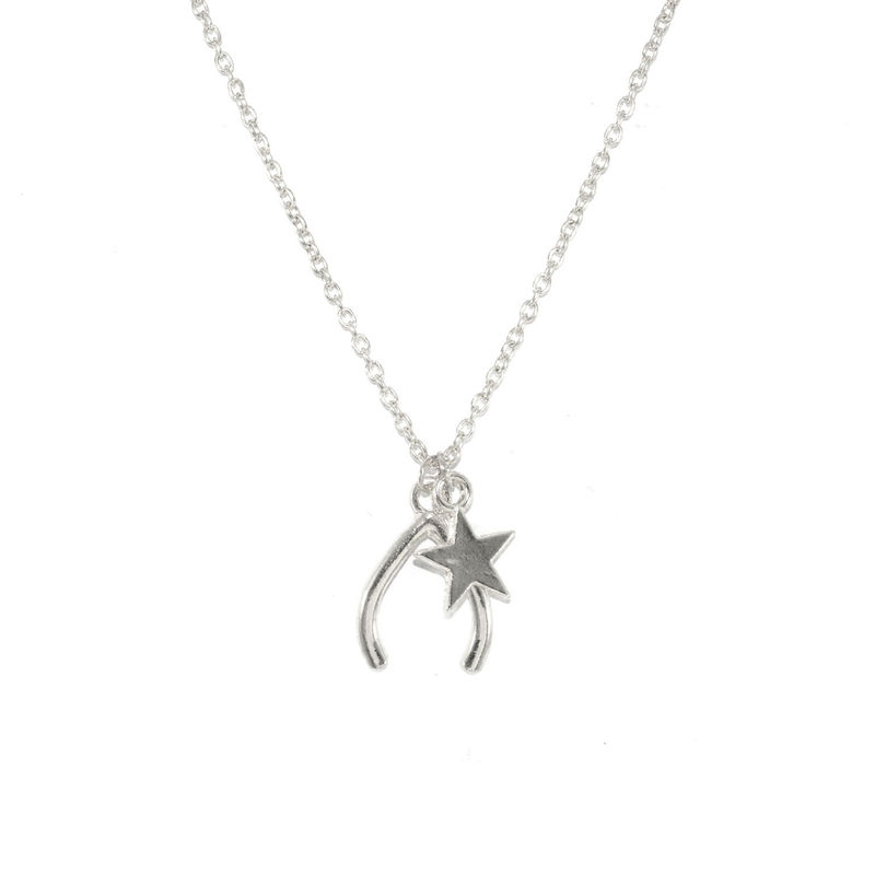 WISH BONE AND STAR CHARMS NECKLACE - product image