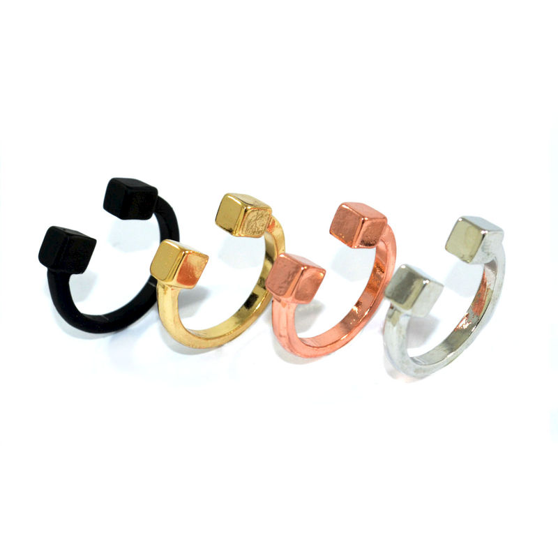 DOUBLE CUBE RING - product image