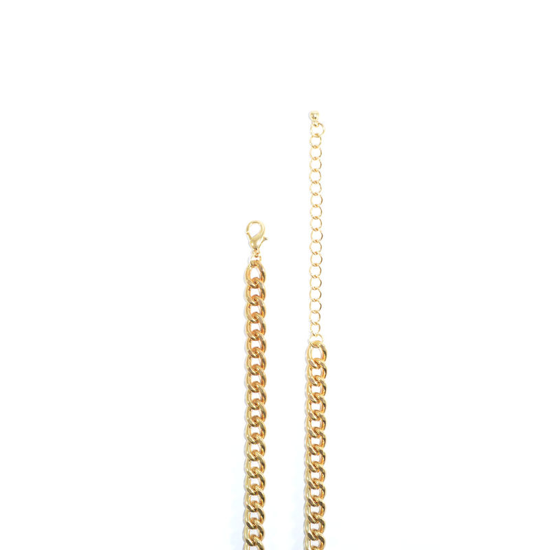 TWO TONE STAIRWAY PENDANT NECKLACE - product image