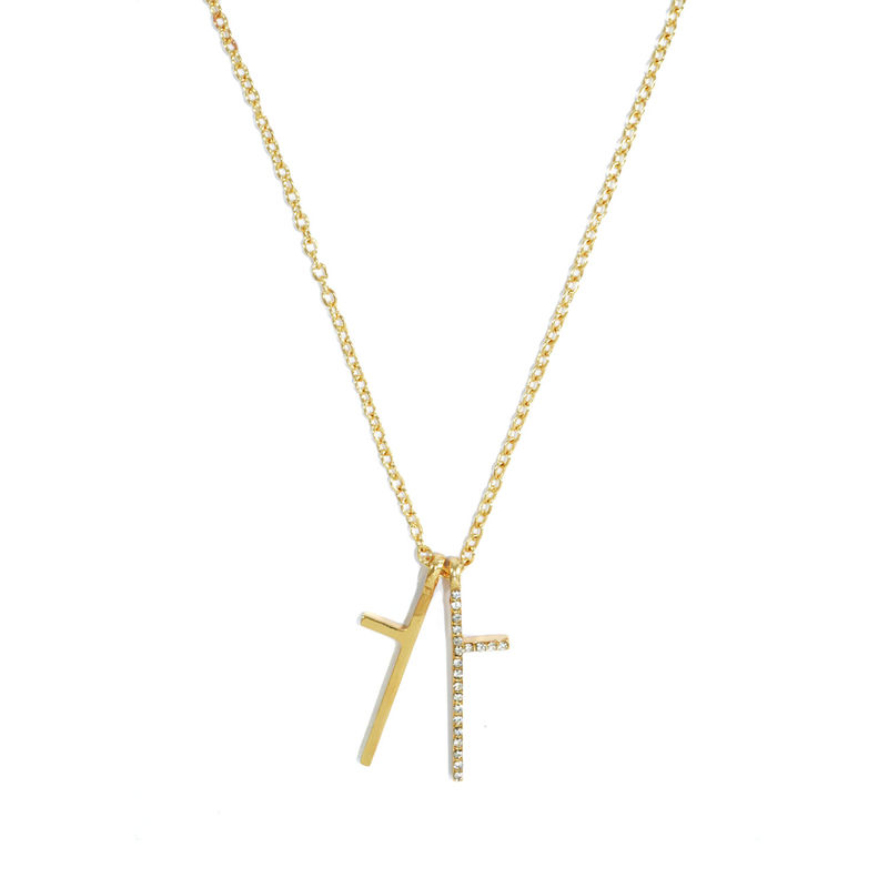 SEPARATE CRYSTAL CROSS NECKLACE - product image